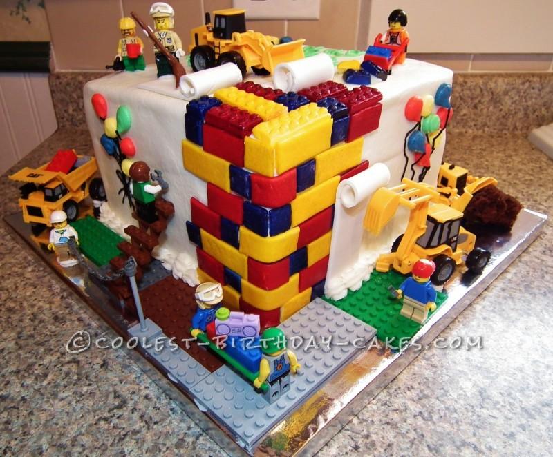 Under Construction Lego Cake by Melanie