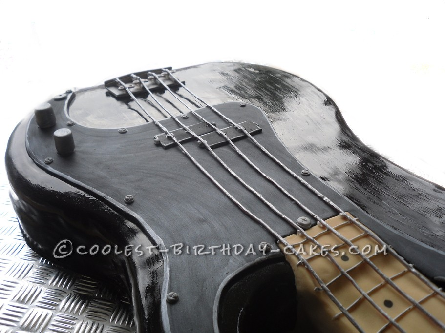 Coolest Life-Size Bass Guitar Cake