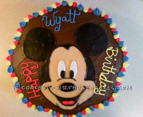 Miraculous Coolest Mickey Cake For A 3 Year Old Boy Personalised Birthday Cards Veneteletsinfo