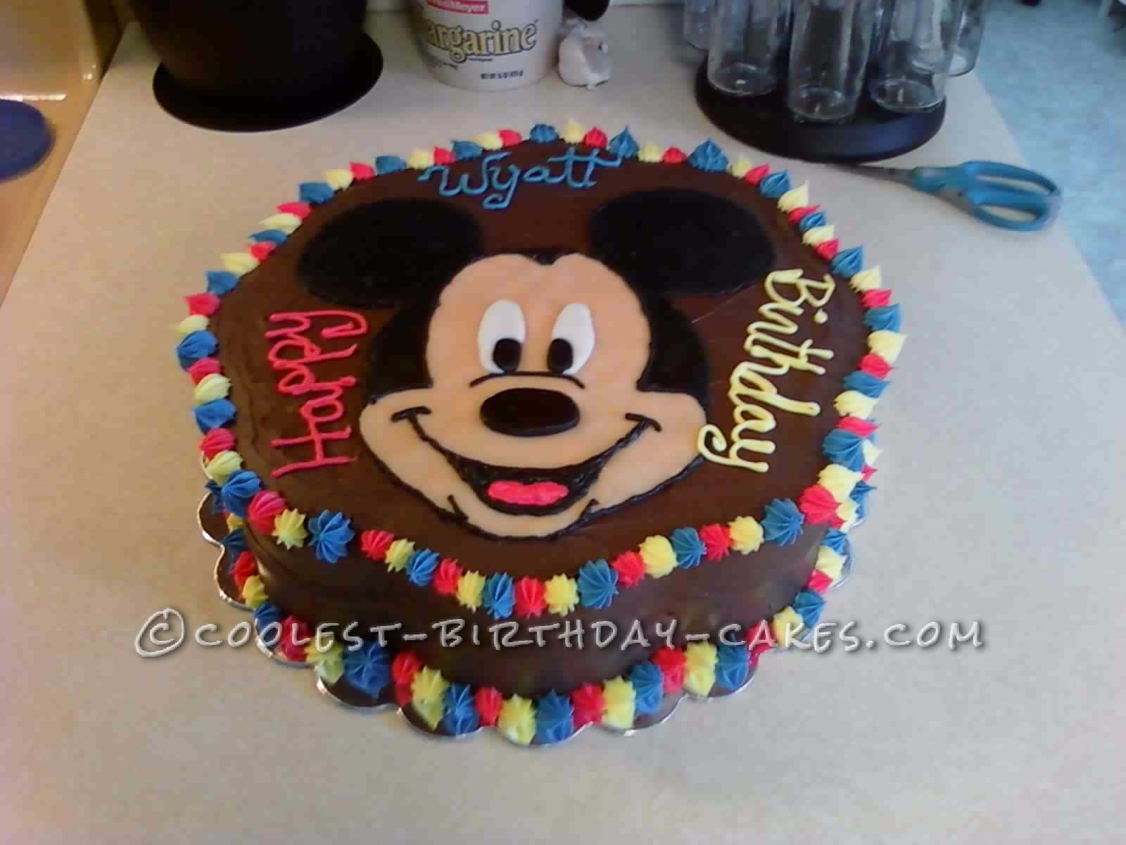 Enjoyable Coolest Mickey Cake For A 3 Year Old Boy Personalised Birthday Cards Veneteletsinfo