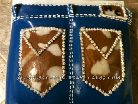 Coolest Miss Me's Cowhide Bling Jean Birthday Cake