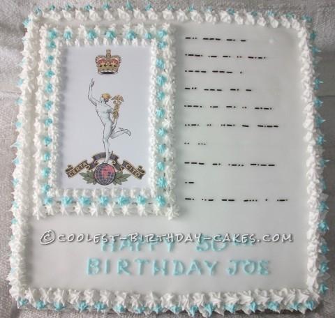 Coolest Morse Code Cake