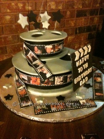 Coolest Movie Reel Cake for My Father