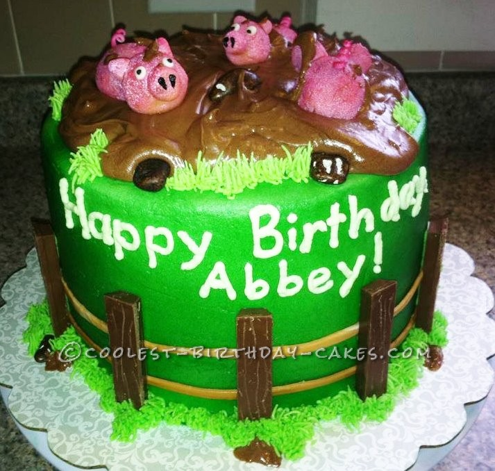 Coolest Muddy Piggies Cake