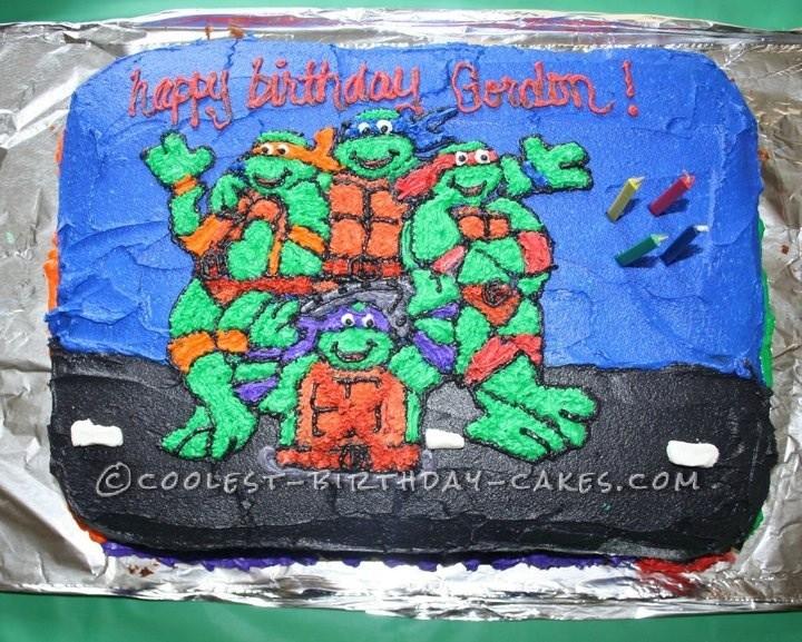 Coolest Ninja Turtle Cake For A Boy