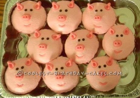 Coolest Piggie Cupcakes