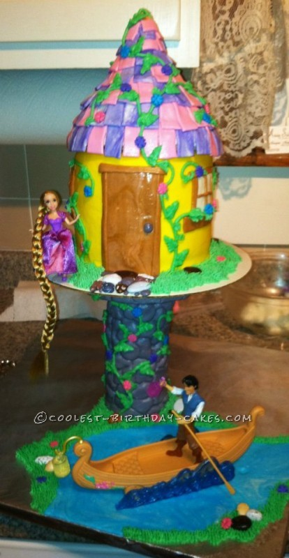 Birthday Cake Ideas Girl 7 : Coolest Rapunzel Birthday Cake for 7-Year Old Girl