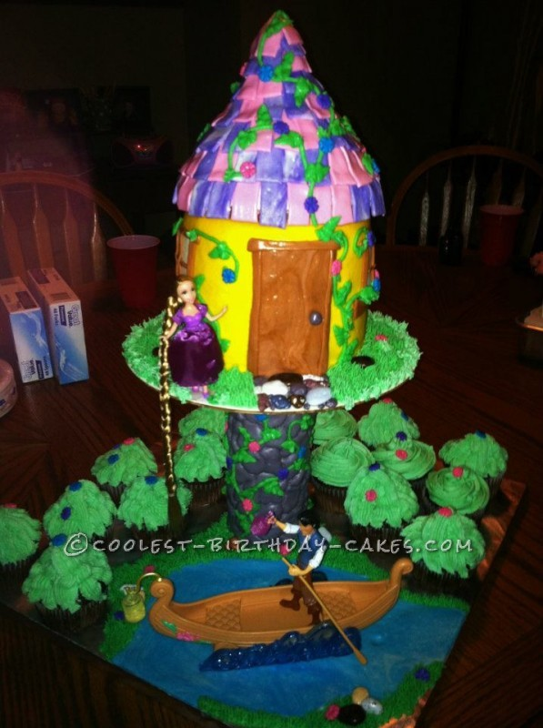 Excellent Coolest Rapunzel Birthday Cake For 7 Year Old Girl Personalised Birthday Cards Veneteletsinfo