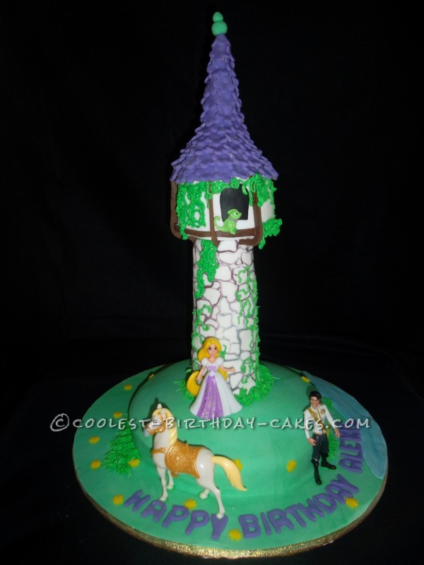 Coolest Rapunzel Tower Cake