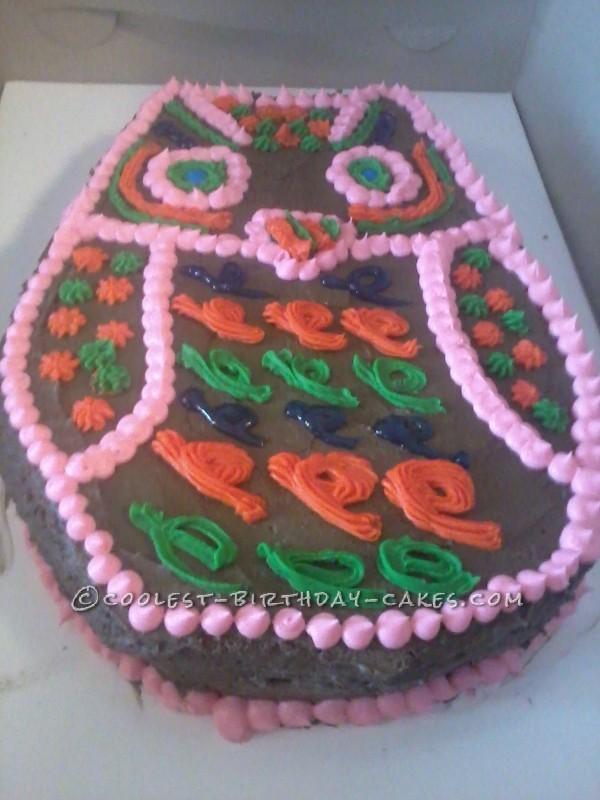 Coolest Retro Owl Cake
