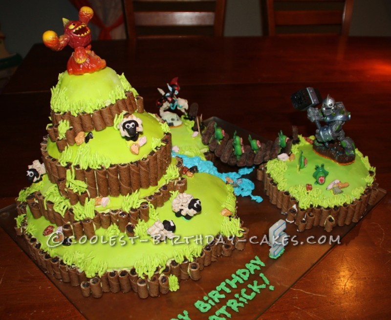 Pleasing Coolest Skylanders Cake Funny Birthday Cards Online Inifodamsfinfo
