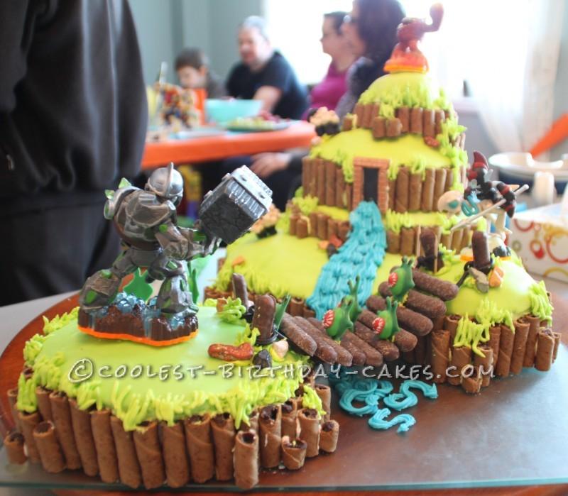 Awe Inspiring Coolest Skylanders Cake Funny Birthday Cards Online Inifofree Goldxyz