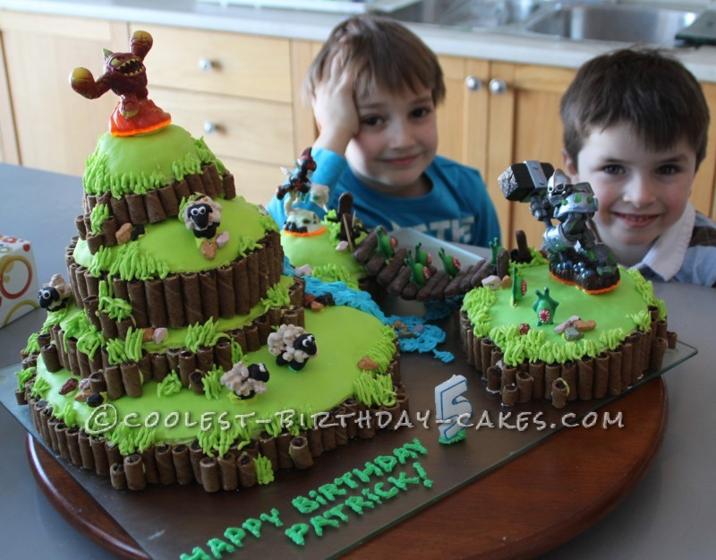 Fantastic Coolest Skylanders Cake Funny Birthday Cards Online Inifofree Goldxyz
