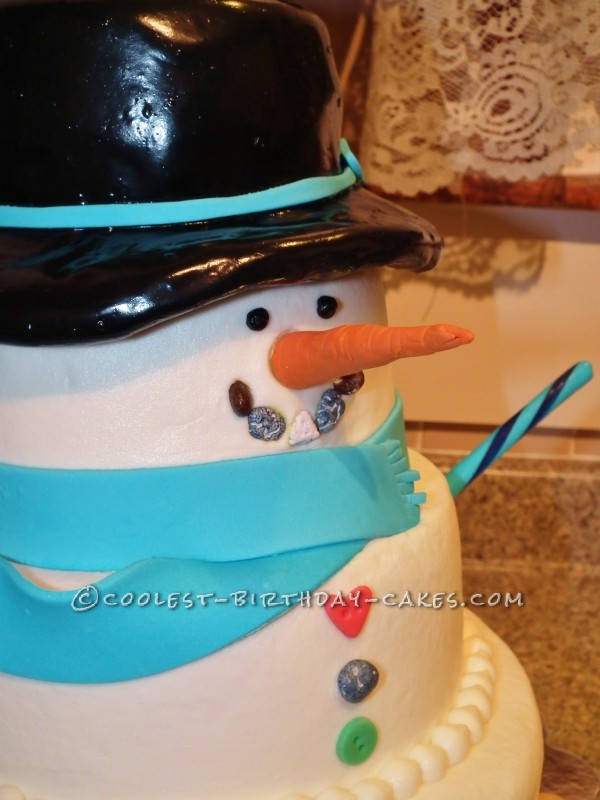 Coolest Snowman Birthday Cake
