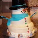 Coolest Snowman Birthday Cake