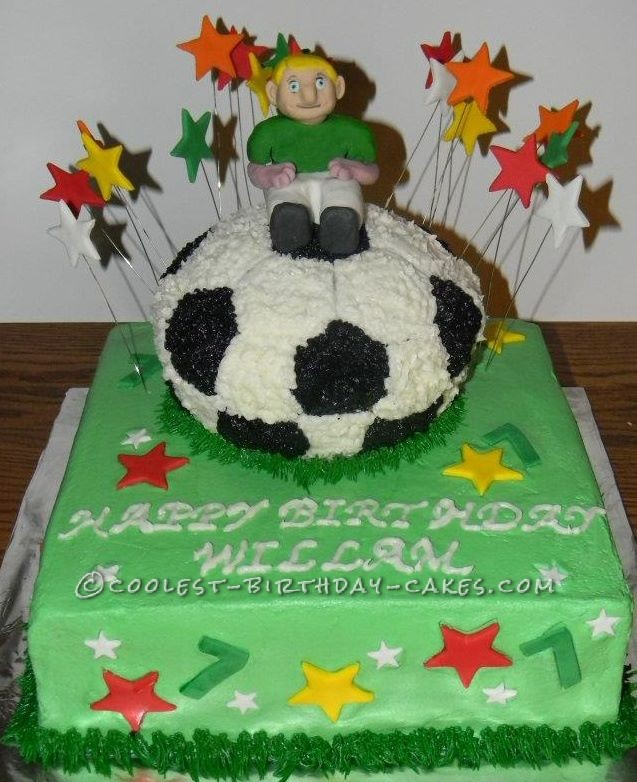 Brilliant Coolest Soccer Ball Cake Personalised Birthday Cards Epsylily Jamesorg