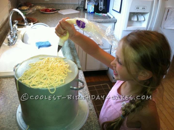 Coolest Spaghetti and Meatballs Birthday Cake