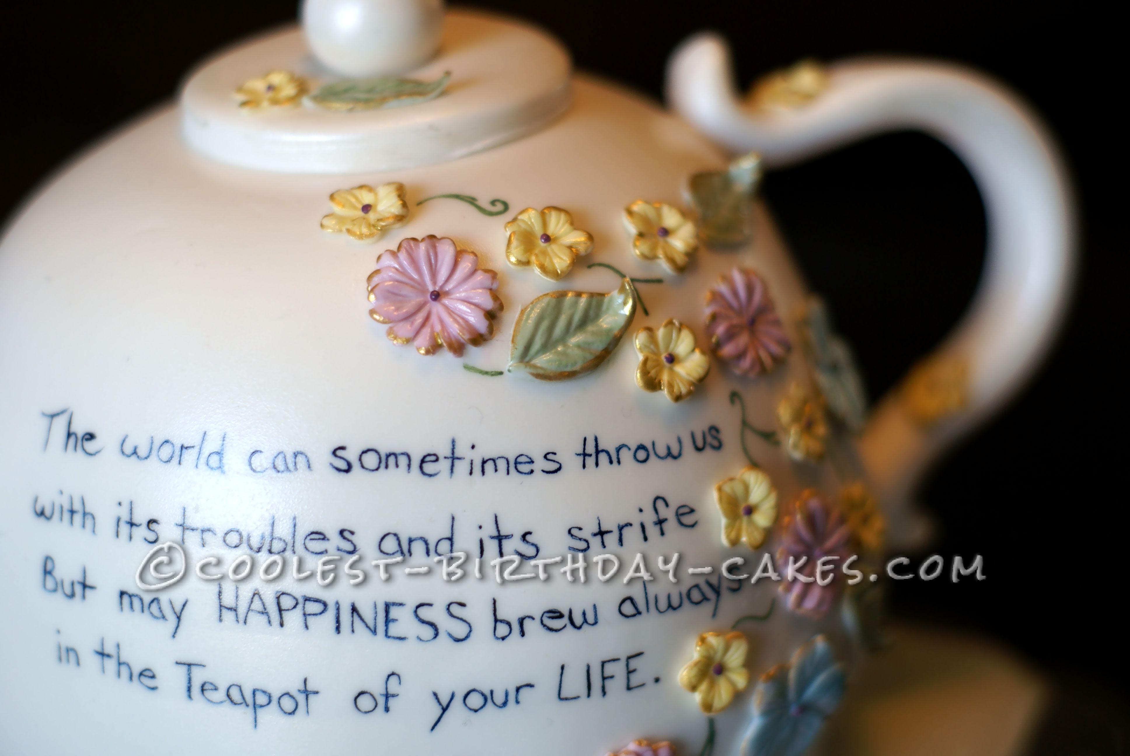 Coolest Tea Pot Cake