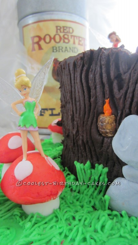 Coolest Tinkerbell and Fairies Cake for a First Birthday
