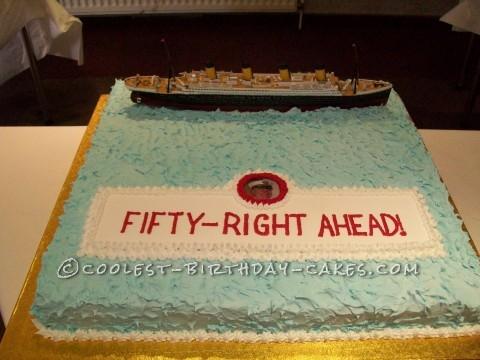 Coolest Titanic Birthday Cake