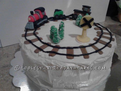 Coolest Train Cake for a Grandpa!