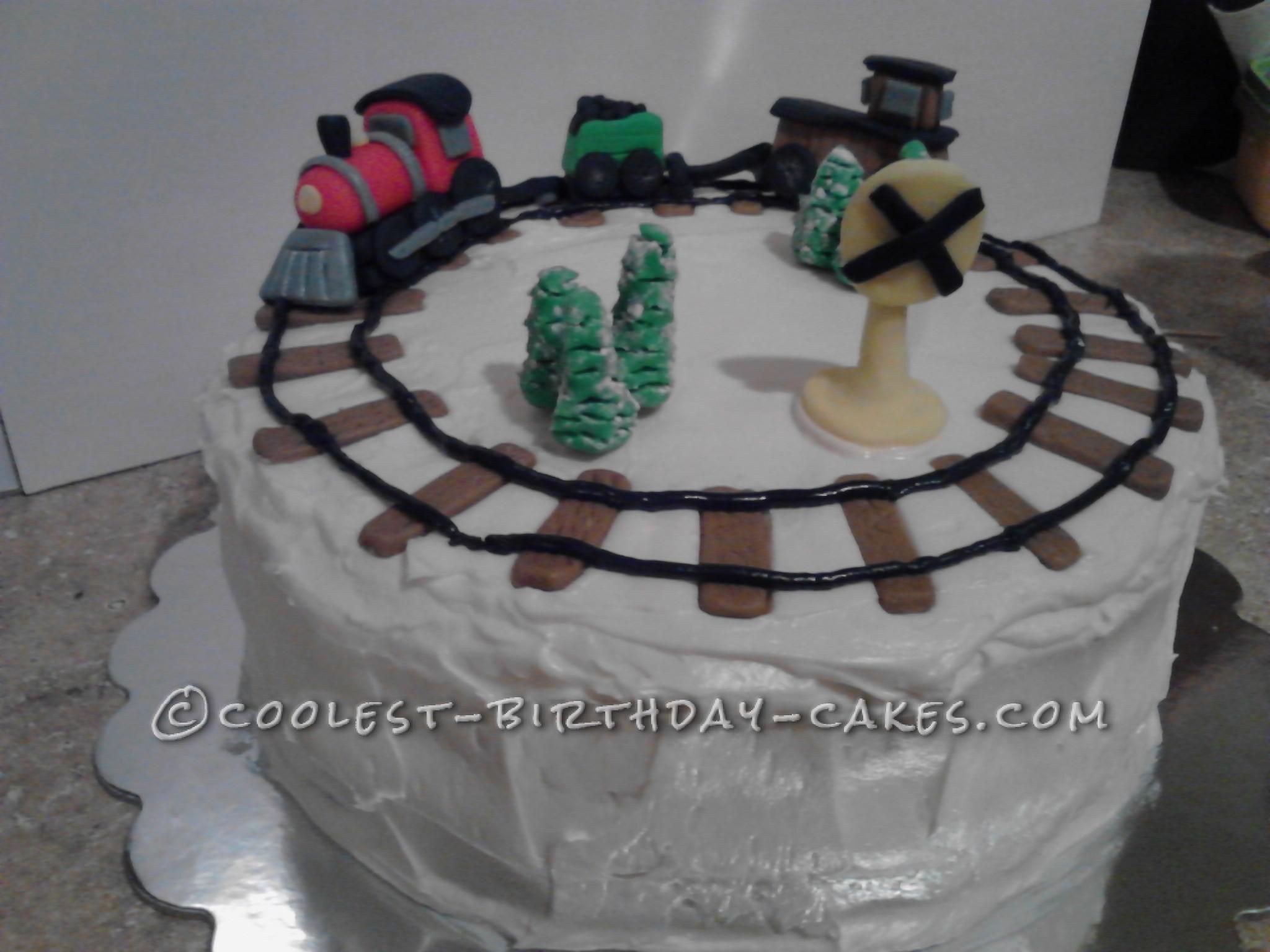 Coolest Train Cake For A Grandpa