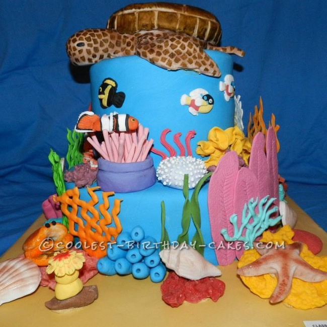 Coolest Underwater Scene Cake