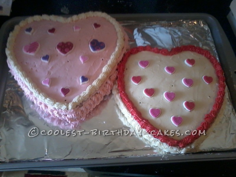 Valentine's Day Cakes Using Heart-Shaped Cake Pans