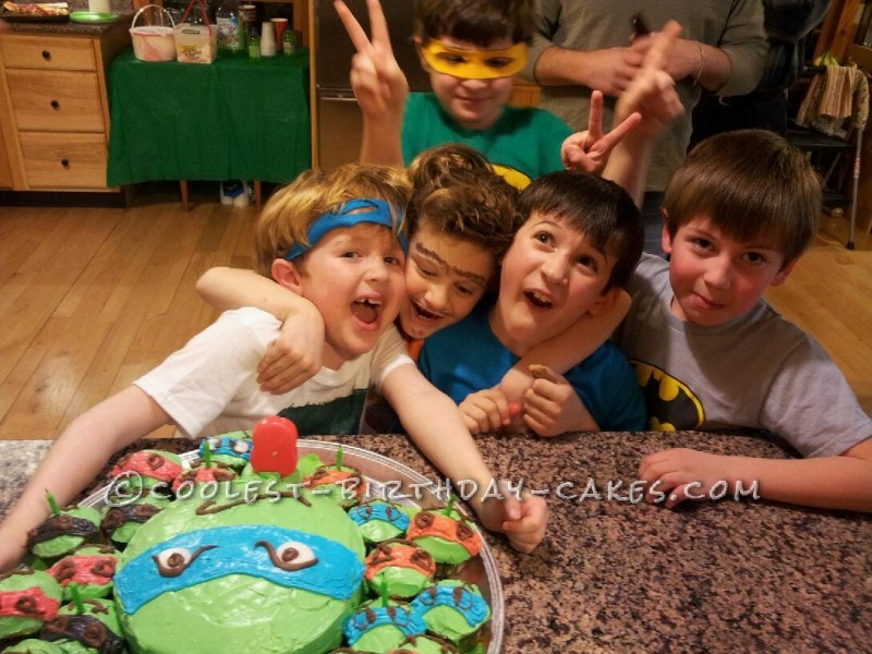 Coolest TMNT Cake and Cowabunga Cupcakes