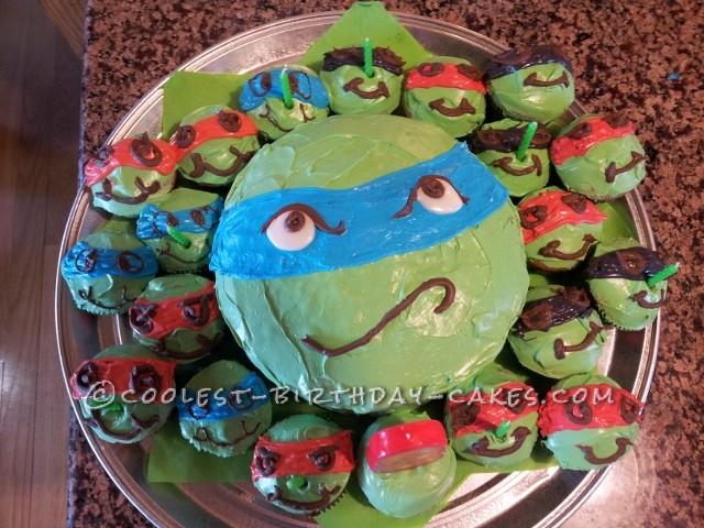 Coolest TMNT Cake and Cowabunga Cupcakes