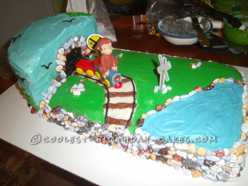 Coolest George Cake for a Curious Two Year Old