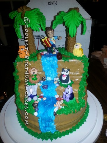 Coolest Go Diego Go Jungle Waterfall Cake