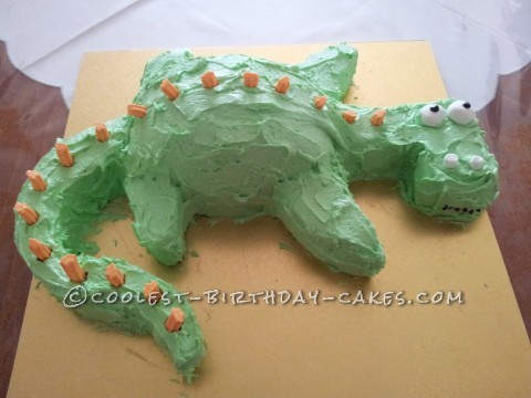 Easy Dino Birthday Cake