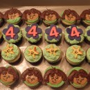 Cool Dora the Explorer 4th Birthday Cupcakes
