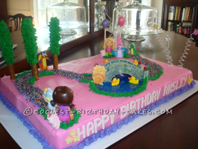 Dora's Coolest Big Adventure Birthday Cake