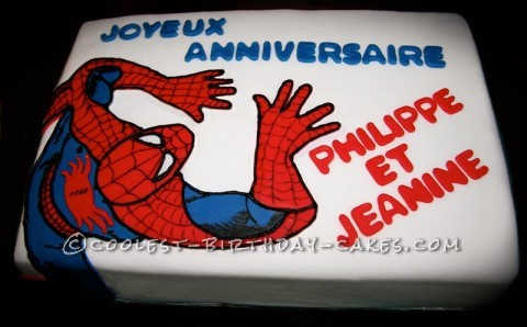 Dynamic Spiderman Birthday Cake