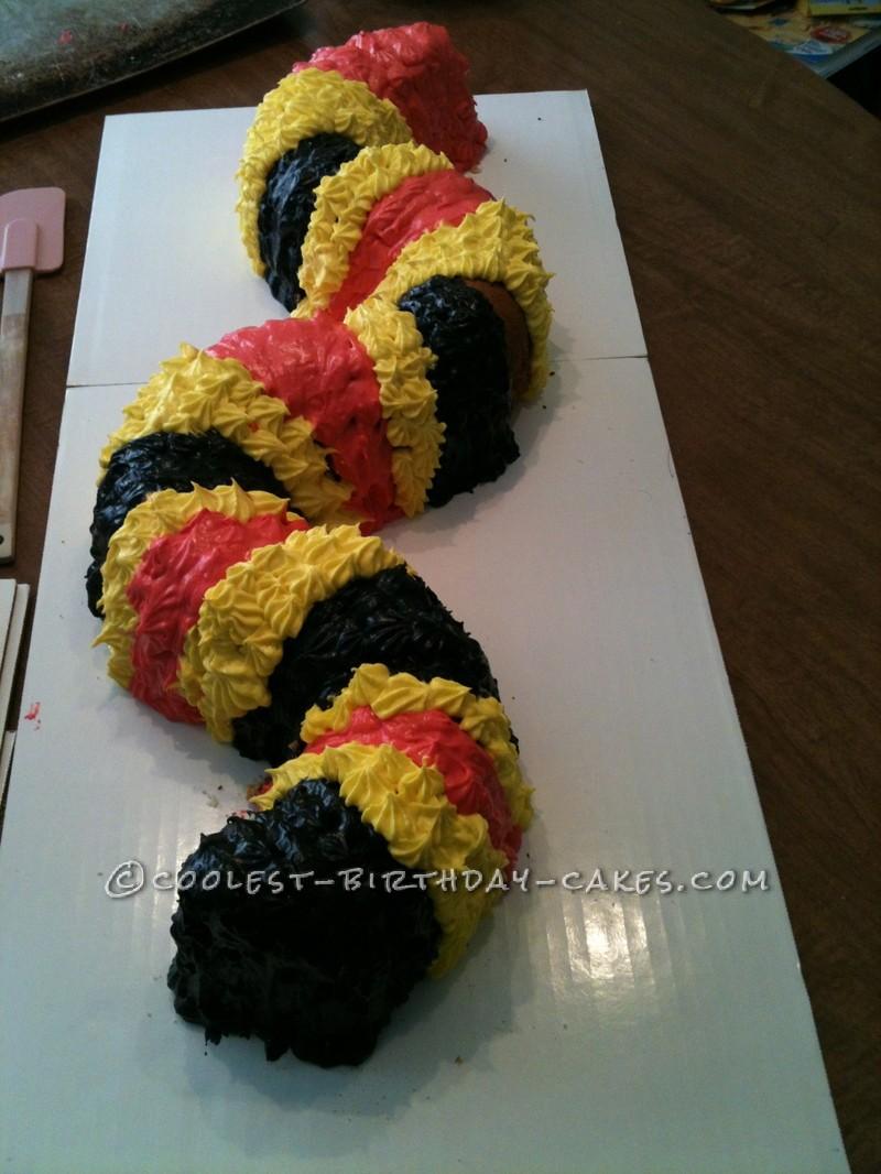 Easy Coral Snake Cake