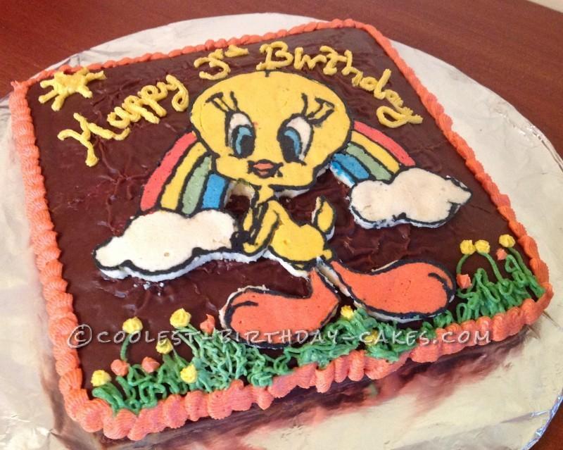 Tremendous Easy Tweety Bird 3Rd Birthday Cake Funny Birthday Cards Online Kookostrdamsfinfo