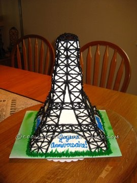 Stupendous Coolest Homemade Eiffel Tower Cakes Personalised Birthday Cards Akebfashionlily Jamesorg