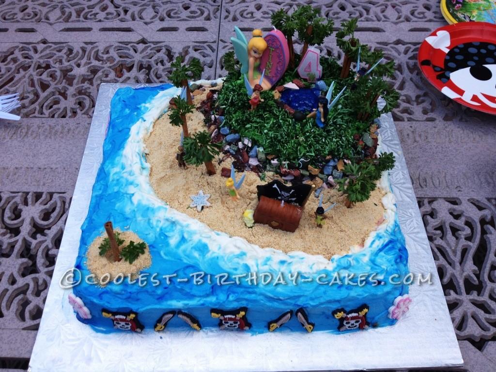 Enchanted Fairy Island Birthday Cake