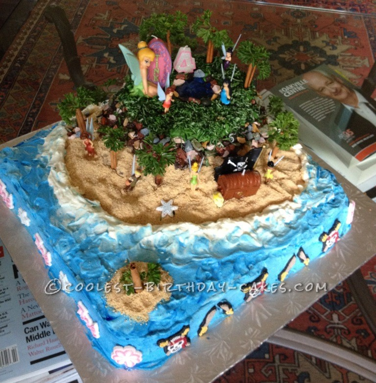 Enchanted Fairy Island Birthday Cake