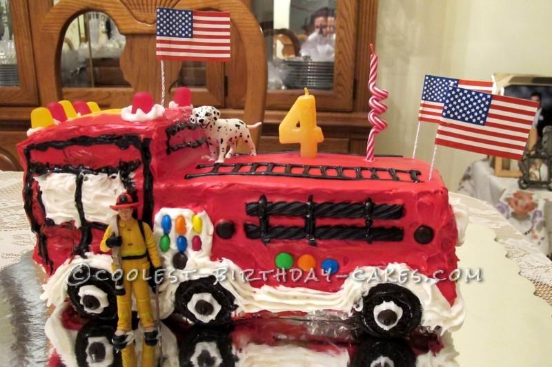 Coolest Fire Truck Cake