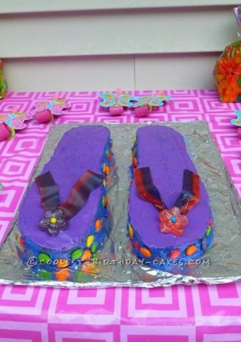Coolest Flip Flop Birthday Cake