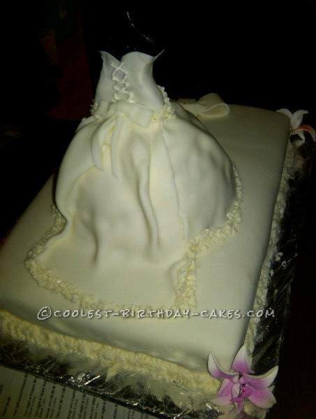 Wedding Gown Cake for a Bridal Shower