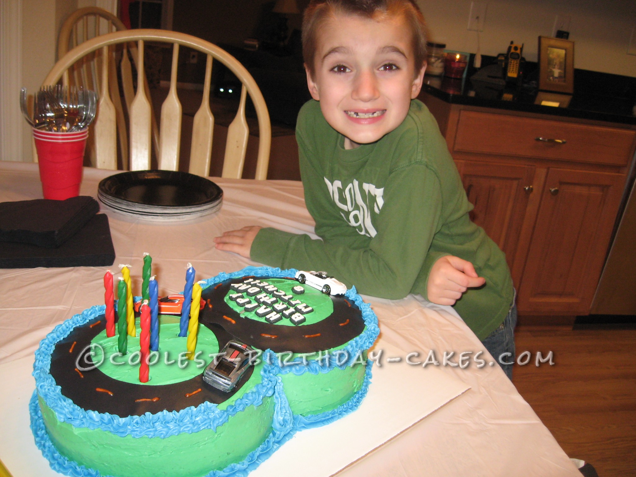 Figure 8 Racetrack Birthday Cake