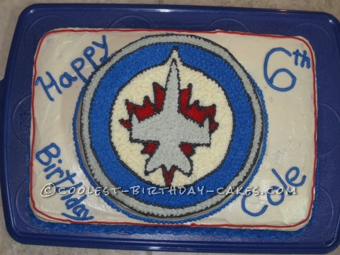 Jets Hockey Birthday Cake