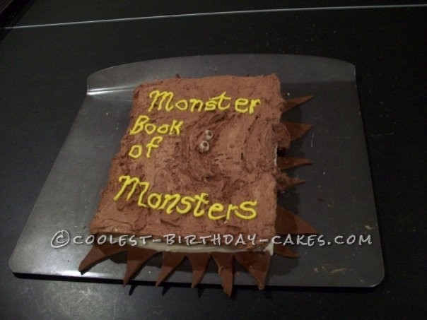 Harry Potter Book of Monsters Cake