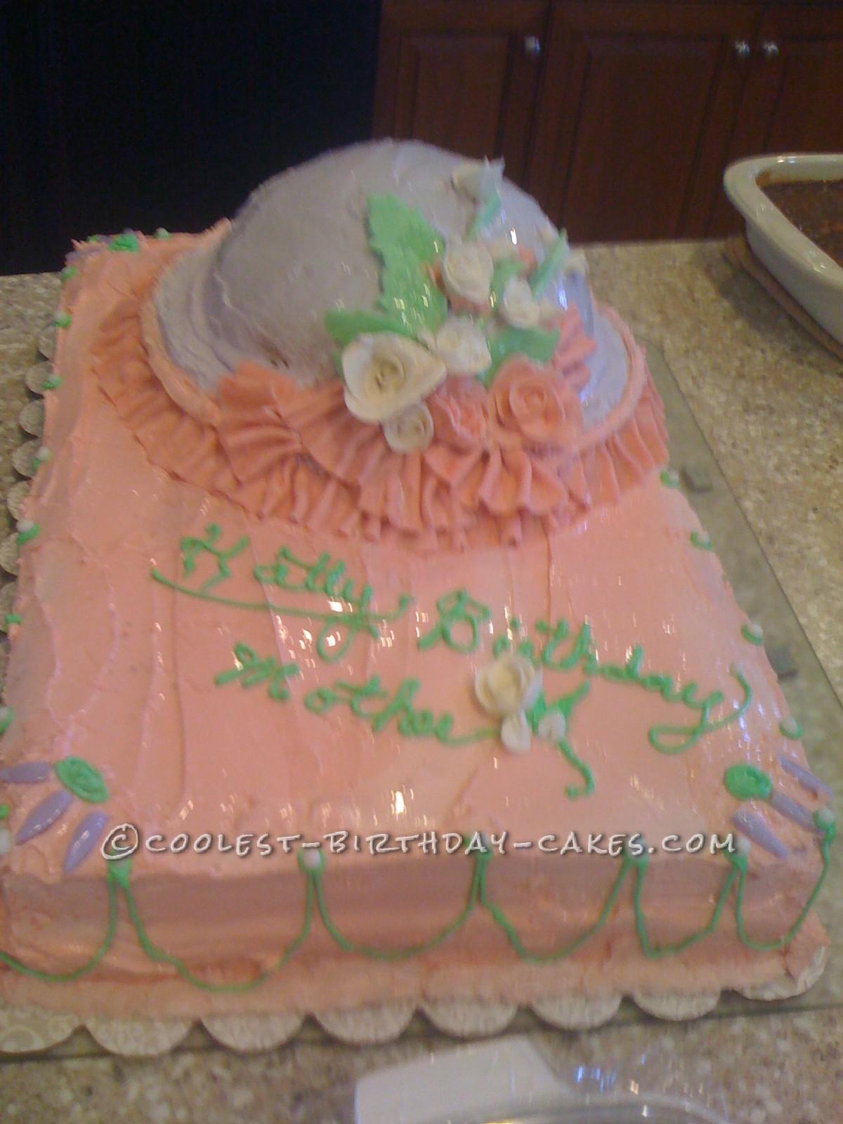 Homemade Hat Bonnet 89th Birthday Cake