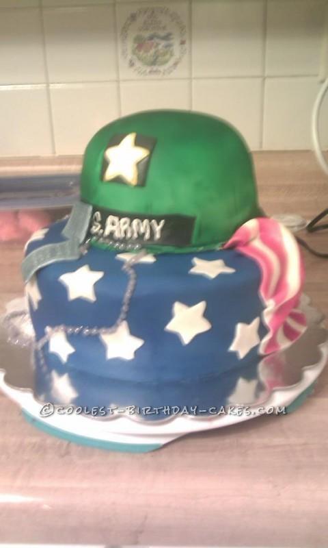 Coolest Army Helmet Cake