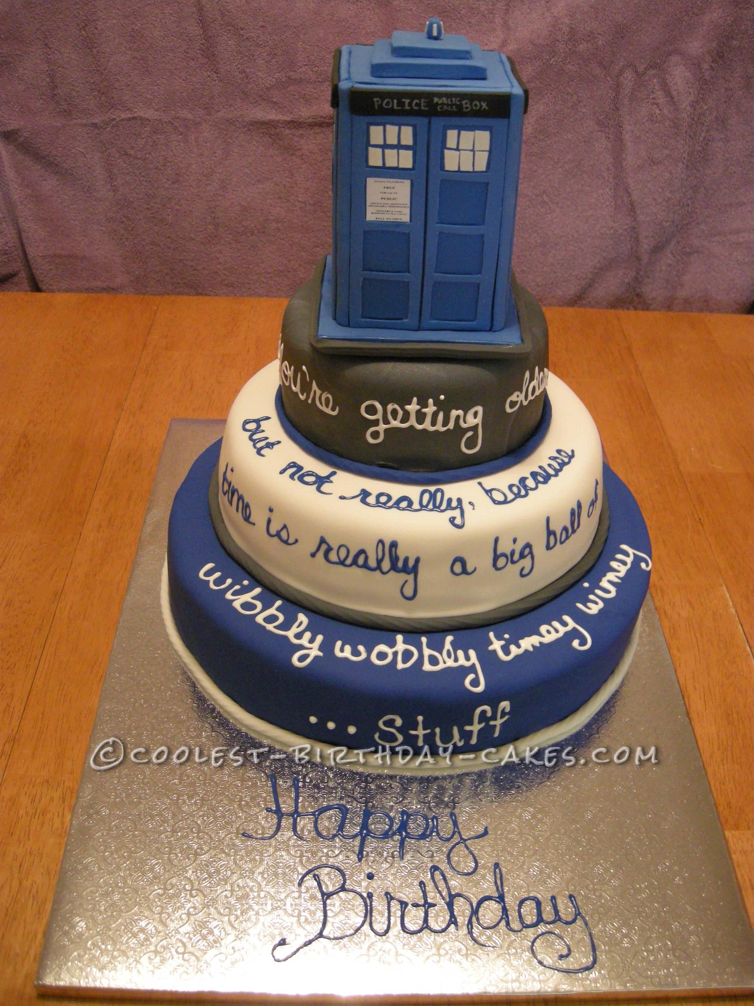 Cool Doctor Who Tardis Cake